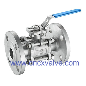 3PC Ball Valve Flanged End With Direct Mounting Pad