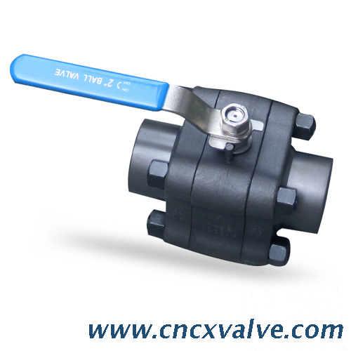 3PC Forged Steel Ball Valve Female Npt Threaded