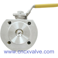 Wafer Type Ball Valve With Direct Mounting Pad DIN PN16 or PN40