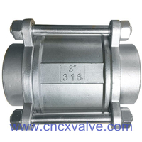 3PC Body Vertical Check Valve Spring Loaded Type