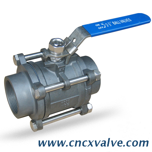 3PC Screwed End Ball Valve
