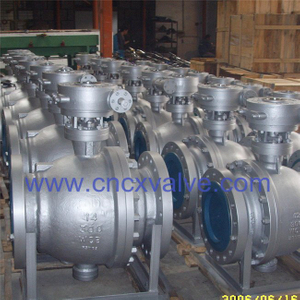 Flanged End Trunnion Mounted Ball Valve