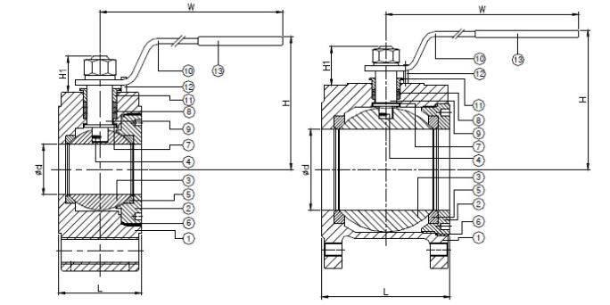 stainless steel wafer ball valve