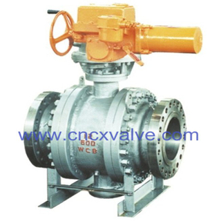 Flanged End Casting Type Trunnion Mounted Ball Valve
