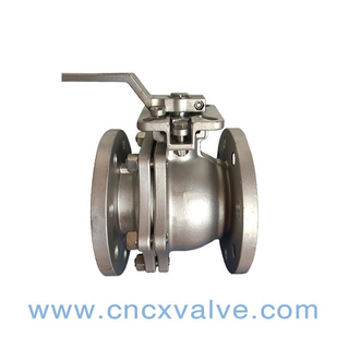 2PC Ball Vale Flanged End With Direct Mounting Pad