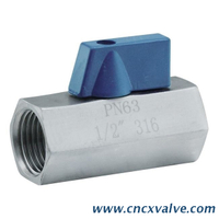 Stainless Steel 304 Mini Ball Valve Female Threaded PN63