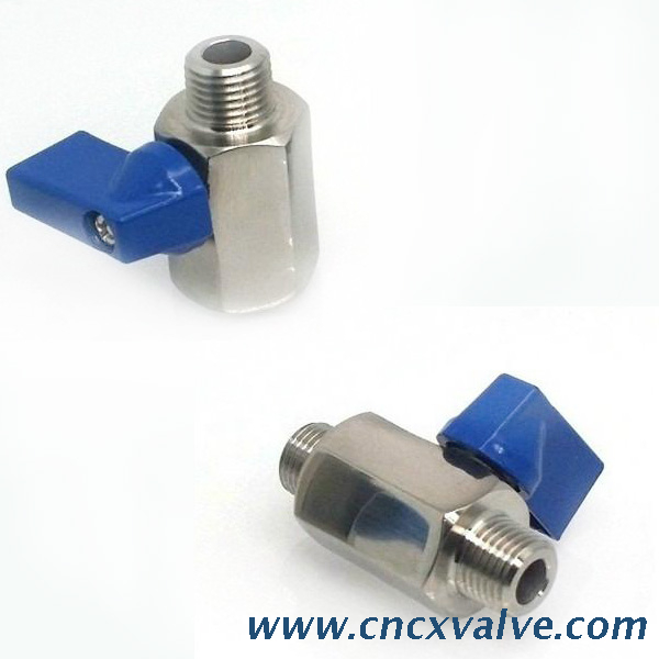 SS316 Mini Ball Valve Male-Female Threaded